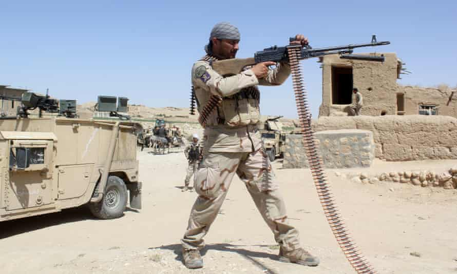 An Afghan soldier