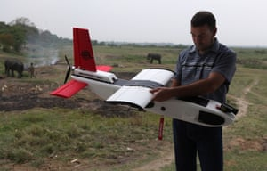 India plans to use drones to protect and monitor wildlife in its forests.