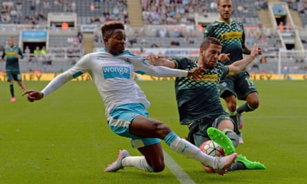 Newcastle's young winger Rolando Aarons, left, could be one of the emerging stars of the season.