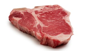 A T-bone steak