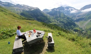 Crossing the Alps on the Grossglockner High Alpine Road in Austria