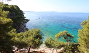 View from the Kamp Lili campsite on Hvar island in Croatia.