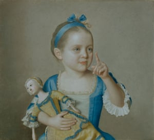 Marie-Anne Françoise Liotard with a Doll, c1744.