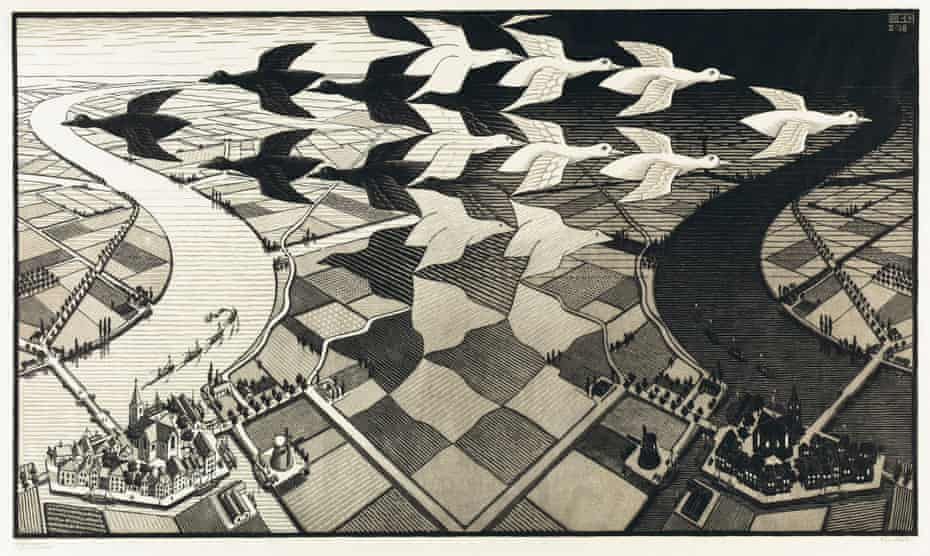 Day and Night, 1938 by MC Escher.