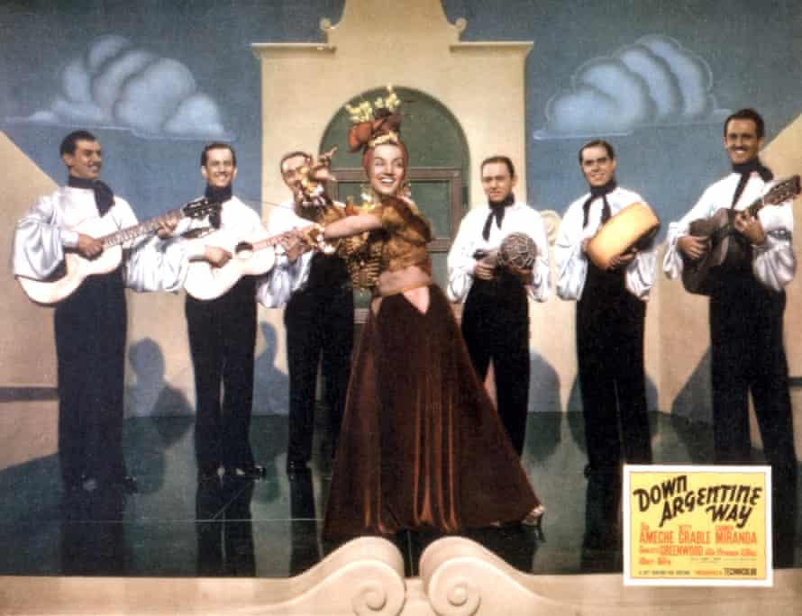 Carmen Miranda in Down Argentine Way, 1940.