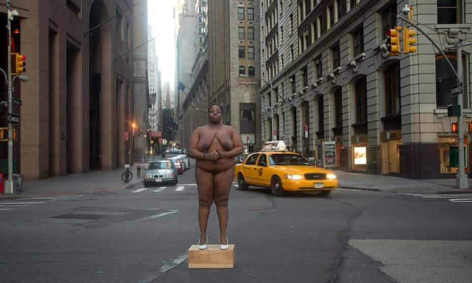 'From Her Body Came Their Greatest Wealth' ... Wall Street, New York, 2013. Courtesy the artist