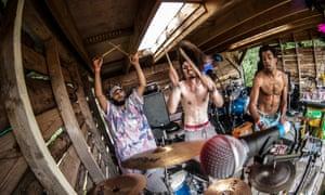 Sticks in the mud: Flamingods rocking Supernormal festival.