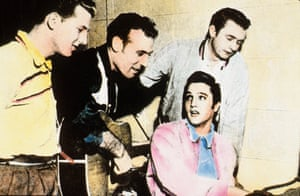 Jerry Lee Lewis with Carl Perkins, Elvis and Johnny Cash at Sun Studios, Memphis Tennessee December 4 1956