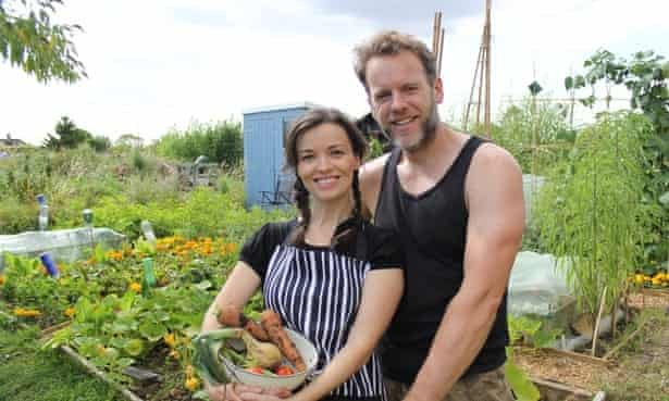 A couple in their allotment