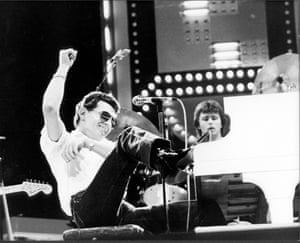 Jerry Lee Lewis at Wembley Arena, January first 1980