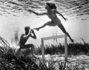 Jumping Hurdles, by Bruce Mozert