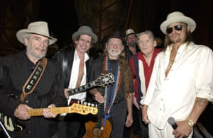 Merle Haggard, Keith Richards, Willie Nelson, Jerry Lee Lewis and Kid Rock, 2004