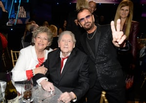 Jerry Lee Lewis, his wife Judith and Ringo Starr at the Annual Rock and Roll Hall of Fame, 2015