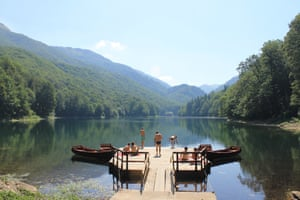 A lake in Biogradska Gora national park, Montenegro. Photograph: Ciara Milne
