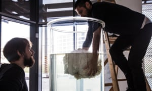 Dutch artist Arne Hendriks, with colleague Mike Thompson, holds fat-raising events in his home city of Eindhoven to amass more material for the fatberg.