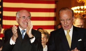 Australian Prime Minister John Howard and media tycoon Rupert Murdoch. Both figures helped to hold back climate action in Australia in the 90s and beyond, according to a new book by author Maria Taylor.