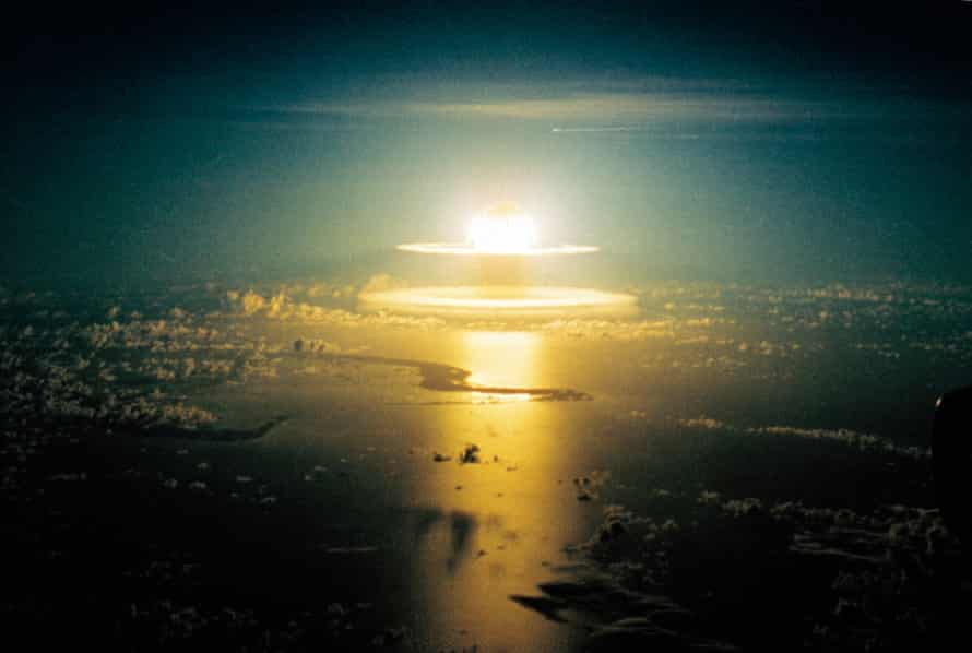 A nuclear bomb is detonated in the Pacific ocean on 10 June 1962
