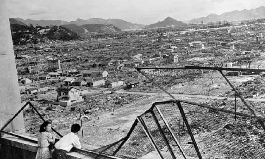 The devastated city of Hiroshima some three years after the US dropped an atomic bomb on the city, 06 August 1945, at the end of World War II.