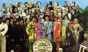 The album cover of Sgt Pepper's Lonely Hearts Club Band, Beatles (1967).