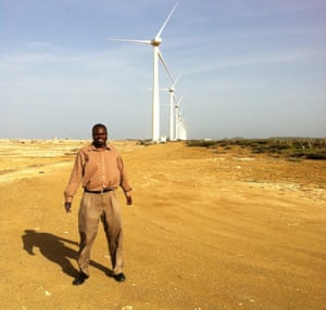 Wind farm in Curacao
