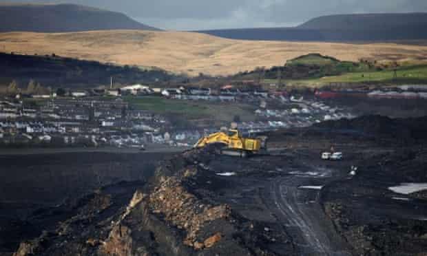 Ffos-Y-Fran opencast coal mine in Merthyr Tydfil, Wales