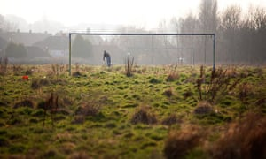 Overgrown football pitch