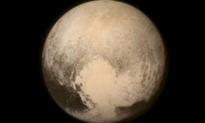Pluto nearly fills the frame in this image from the Long Range Reconnaissance Imager (LORRI) aboard NASA s New Horizons spacecraft, taken on July 13, 2015, when the spacecraft was 476,000 miles (768,000 kilometers) from the surface