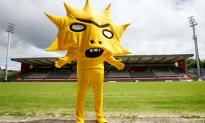 Partick Thistle's new mascot, designed by Turner Prize-nominee David Shrigley