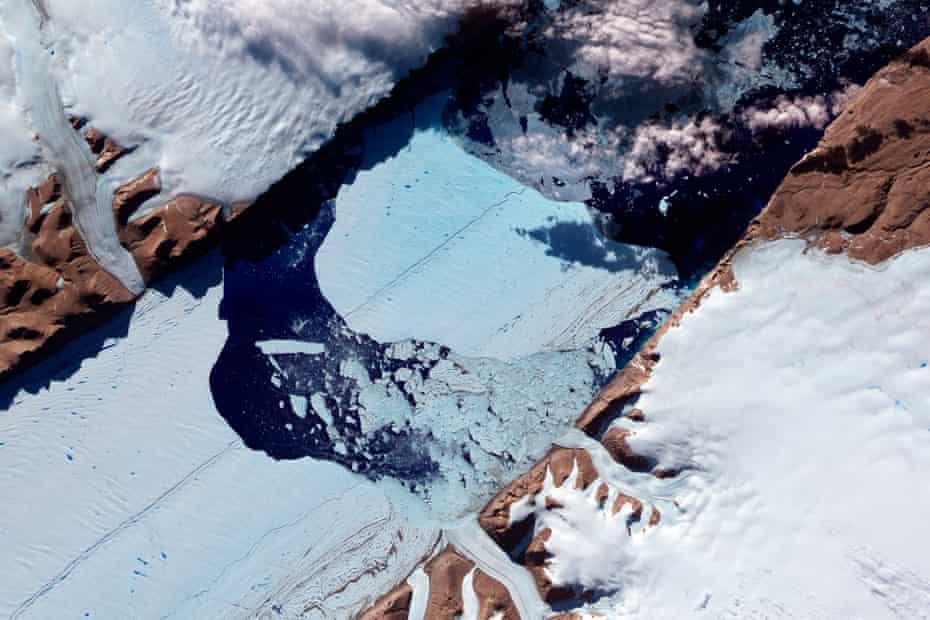 A giant iceberg drifting in north-western Greenland, 2012.