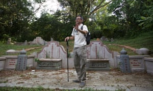 Darren Koh, one of the tour guides of historic Bukit Brown.