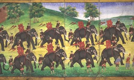 Parabeik illustrating royal scenes