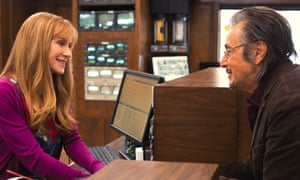 Holly Hunter and Al Pacino in Manglehorn