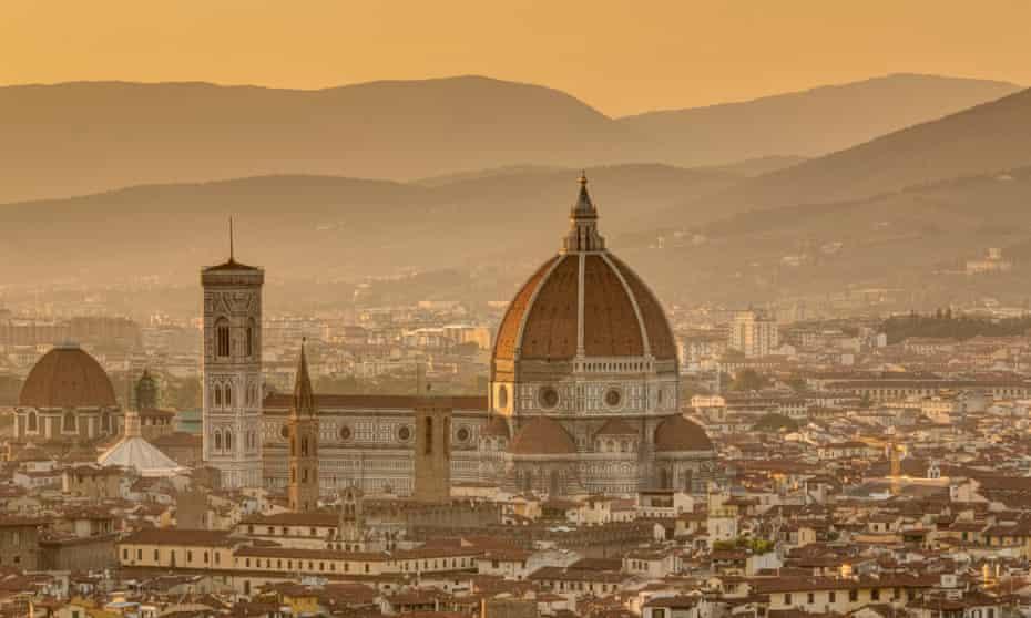 The cathedral of Santa Maria del Fiore in Florence, a Unesco world heritage site, photographed from the Basilica di San Miniato al Monte.