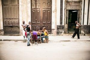 Street scene, Central Havana, Cubaphoto: Matt Humphreyexclusive for Guardian Travel cover feature AUG 8 2015CUBA