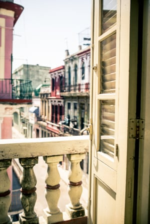 The view from Casa Julio's apartment, a B&B in Central Havana, which is an area between Vedado and Old Havana and one rarely visited by tourists