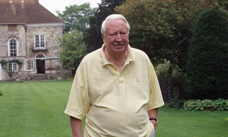 Sir Edward Heath at home in Salisbury, 1999.