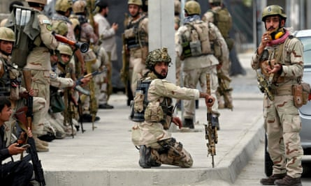 Afghan security forces in Kabul