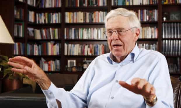 Billionaire industrialist Charles Koch speaks in his office at Koch Industries in Wichita, Kansas.