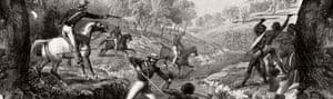 Godfrey Charles Mundy's depiction of the 1838 Slaughterhouse Creek massacre.