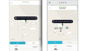UberX in August (L) and July (R).