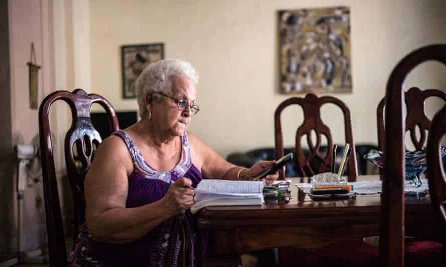 Mercedes Valenciaga Sanz, owner of Casa Mercedes, Old Havana