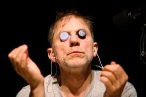 Fringe alumni … Simon McBurney of Complicite in The Encounter.