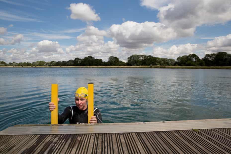 Susan Gardner: climbing out of water