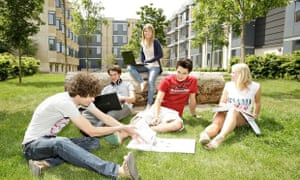 Students at the university of Bath.