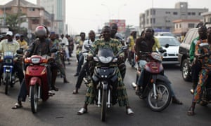 traffic in Cotonou Benin