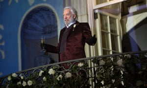 President Coriolanus Snow in the film of Suzanne Collins' novel, Catching Fire.