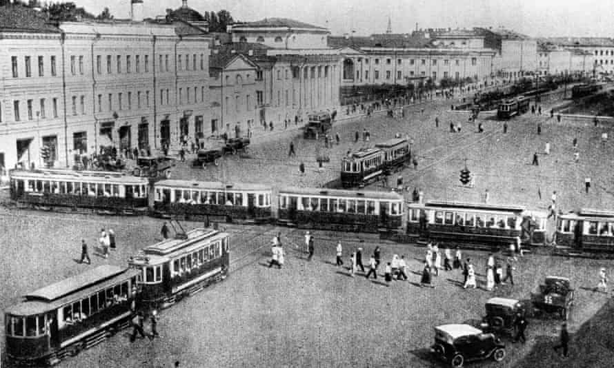 Russia. Moscow in 1920.