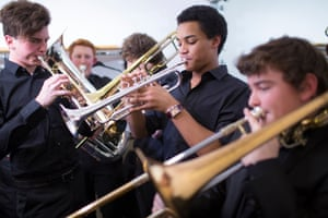 members of the National Youth Orchestra of Great Britain.