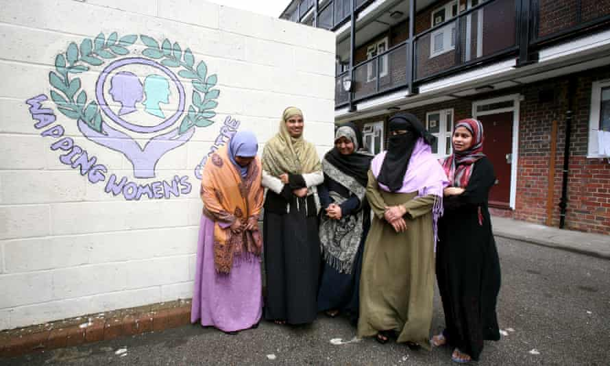 Muslim women in east London, who were given English lessons at the Wapping women's centre