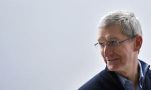 Apple CEO Tim Cook speaks to members of the media at an Apple press event in San Francisco, California.